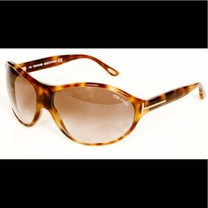 Tom Ford Liya Tortoise Sunglasses